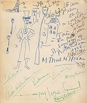 Autograph album compiled by Ines Helberg, 1948-1974.: BRITTEN, Benjamin, Peter PEARS, Marcel ...