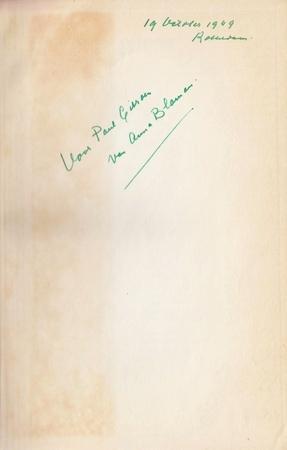 Vrouw en vriend. Roman. (Gesigneerd met handgeschreven opdracht aan Paul Citroen).: BLAMAN, Anna