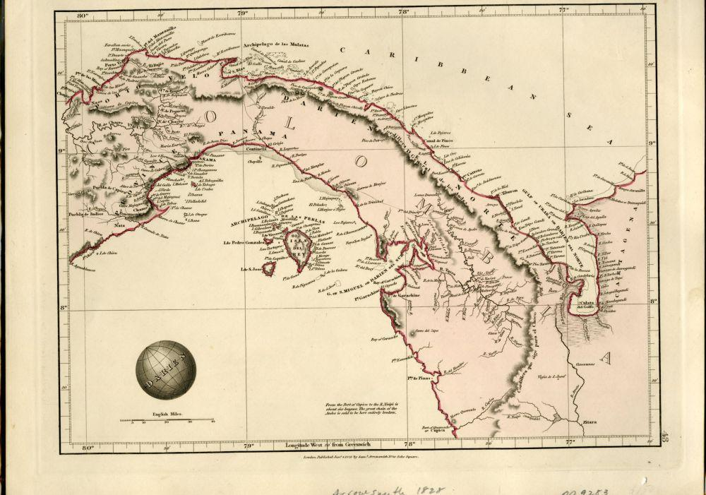 Map of Columbia (Isthmus of Panama) From ...