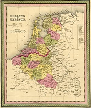 Map of Holland and Belgium, Cowperthwait ca. 1850