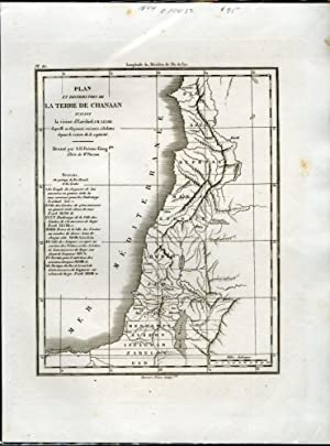 Plan et Distribution de la Terre de Chanaan [Map of the Land of Canaan]