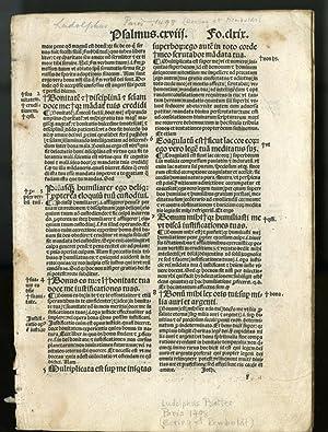 Expositio in psalterium [fragment; 8 leaves]: Ludolphus de Saxonia