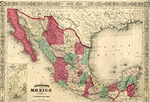 Map of Mexico [from johnson's new illustrated family atlas]