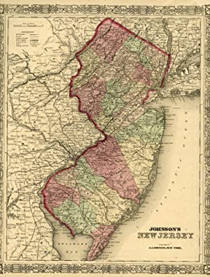 Map of New Jersey [from johnson's new illustrated family atlas]