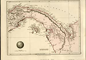 Map of Columbia (Isthmus of Panama) From Arrowsmith's Outline of the World, 1828