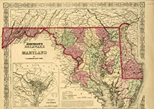 Map of Maryland [from johnson's new illustrated family atlas]