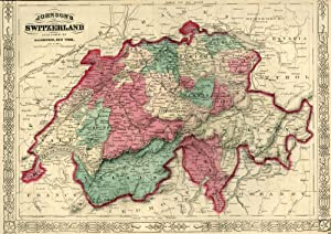 Map of Switzerland [from johnson's new illustrated family atlas]