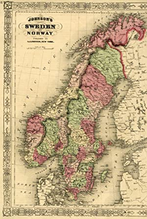 Map of Norway and Sweden [from johnson's new illustrated family atlas]