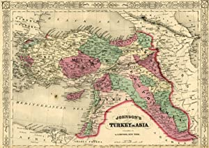 Map of Turkey [from johnson's new illustrated family atlas]