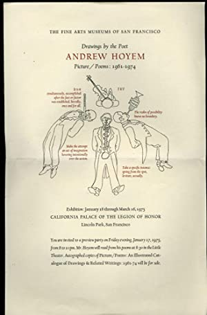 Drawings by the Poet Andrew Hoyem: Exhibition Broadside and Invitation to a Preview Party