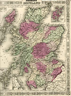 Map of Scotland [from johnson's new illustrated family atlas]