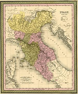 Map of Italy, Cowperthwait ca. 1850