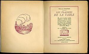 Les Plaisirs De La Table By Nignon Edouard Very Good Softcover