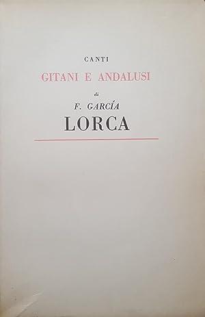 Canti Gitani e Andalusi.: GARCIA LORCA, Federico