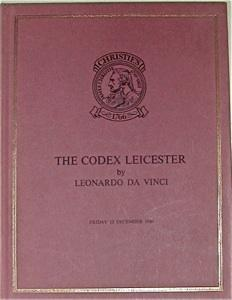 the codex leicester by leonardo da vinci sold by the order of the trustees of the holkham estate