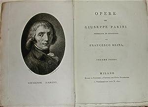 Opere di Giuseppe Parini pubblicate ed illustrate: PARINI, Giuseppe