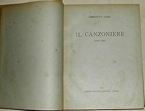 Il Canzoniere (1900-1945).: SABA, Umberto