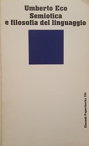 Semiotica e filosofia del linguaggio.: ECO, Umberto
