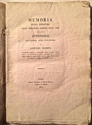 Memoria sulla legatura delle principali arterie degli: SCARPA, Antonio