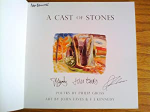 A Cast of Stones - triple signed: Gross, Philip; illus.
