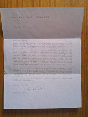 Hand-signed typed letter regarding his adaptation of: Corlett, William