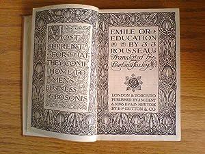 Emile, or Education: Rousseau, Jean-Jacques (tr.