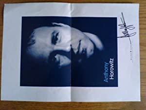 Hand-signed publicity leaflet / poster (Alex Rider, Power of Five, Diamond Brothers)
