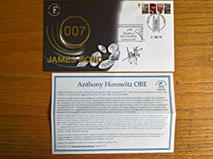 James Bond 007 First Day Cover - signed by Anthony Horowitz