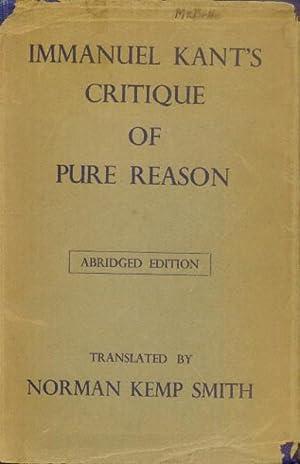 Immanuel Kant's Critique of Pure Reason: Abridged: Kant, Immanuel (Norman