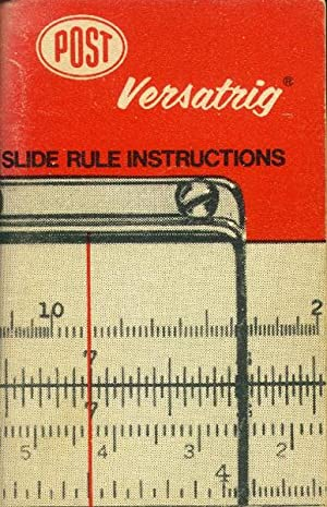 Post Versatrig Slide Rule Instructions