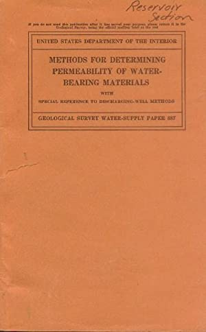 Methods for Determining Permeability of Water-Bearing Materials: Wenzel, L. K.