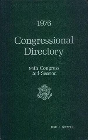 1976 Congressional Directory: 94th Congress, 2nd Session