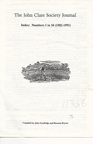 John Clare Society Journal Index: Numbers 1: Goodridge, John &