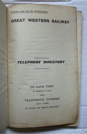 Great Western Railway Telephone Directory