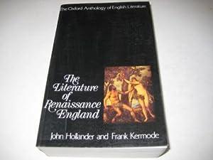 Literature of Renaissance England John Hollander and