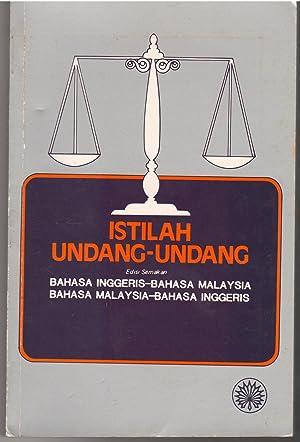 Istilah Undang-Undang: Bahasa Inggeris-Bahasa Malaysia/Bahasa Malaysia-Bahasa Inggeris: Dewan Bahasa dan