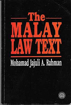 The Malay Law Text