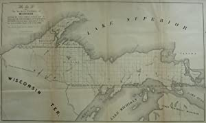 Map of the Northern Peninsula of Michigan Showing the Districts Surveyed and By Whom and on Which ...