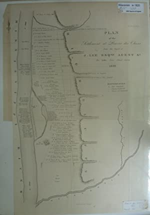 Plan Of The Settlement At Prairie Des Chiens From The Report Of J. Lee Esq., Agent.1820: Lee, J.