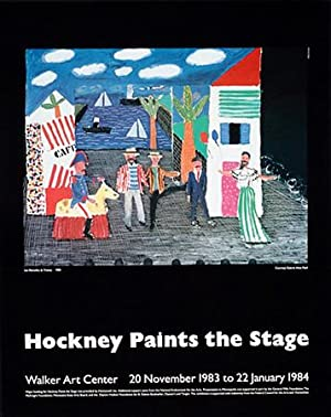David Hockney, Offset Lithograph, Original Exhibition Poster: David Hockney