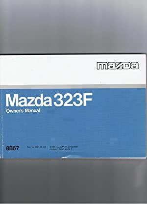 Madza 323F Owner's Manual