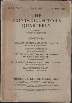 The Print-Collector's Quarterly, April 1912, Vol. 2,: Carrington, Fitzroy, editor