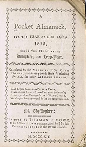An Almanack for the Year of Our Lord 1813 - Being the First after Bissextile or Leap Year. ...