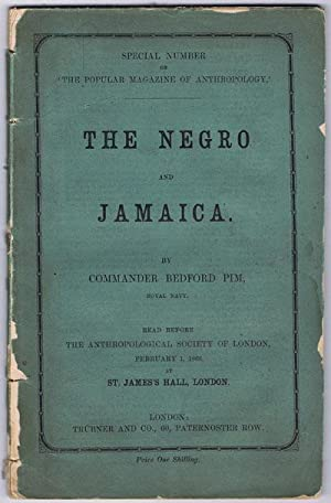 Special Number Of 'The Popular Magazine Of Anthropology ' The Negro And Jamaica Read ...