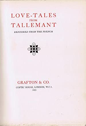 Love tales from Tallemant.: TALLEMANT
