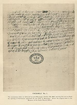 The identification of the writer of the anonymous letter to Lord Monteagle in 1605.: ANON