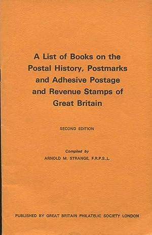 A list of books on the postal: STRANGE Arnold M.