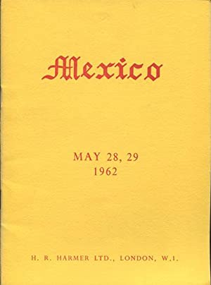 28-29 May) Mexico collection of Professor Hormer Lizama.: 1962