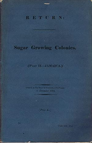 Sugar Growing Colonies. - (Part II - Jamaica): JAMAICA