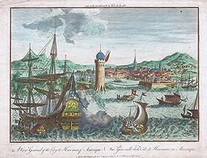 A View General of the City de Havana of Amerique. - Vue Generalle de la Ville de Havanne en ...